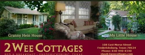 Tremendous Two Wee Cottages Fredericksburg Texas Bed And Breakfast Interior Design Ideas Clesiryabchikinfo